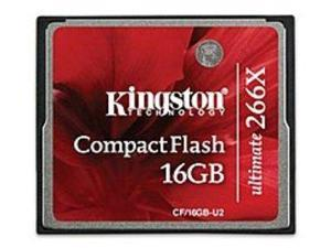 Kingston Ultimate CF/16GB-U2 16 GB Compact Flash Memory Card - 266x
