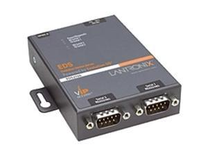 Lantronix 2-Port Secure Serial (RS232/ RS422/ RS485) to Ethernet Gateway&#59; Embedded Linux OS Support&#59; SDK&#59; International 110-240 VAC - Secure Ethernet terminal server for a mutiport RS-232/422/485 ...