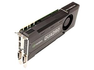 PNY Quadro K5000 Graphic Card - 4 GB GDDR5 - PCI Express 2.0 x16 - Dual Slot Space Required - 256 bit Bus Width - 3840 x 2160 - Fan Cooler - DirectX 11.0, OpenGL 4.3, OpenCL, DirectCompute 5.0 - 2 ...