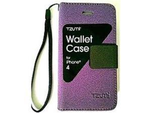 Tzumi 3325-U/WM Wallet Case for Apple iPhone 4 Smartphone - Purple