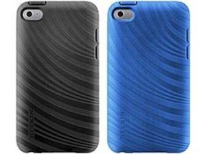 Belkin Essential 023 iPod Case - iPod - Black, Civic Blue - Textured Grooves - Thermoplastic Polyurethane (TPU), Silicone