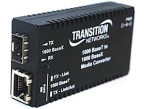 Transition Networks M/GE-T-SFP-01-NA Media Converter - RJ-45 / SFP (mini-GBIC) - External