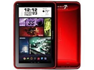 "Visual Land ME-7Q-8GB-RED Prestige Elite 7Q 8 GB Tablet PC - 7"" - Wireless LAN - ARM Cortex A7 Quad-core (4 Core) 1.20 GHz - Red - Android 4.4 KitKat - Slate - 1024 x 600 128:75 Display - Front ..."