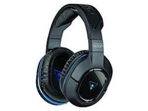 Turtle Beach Wireless DTS Surround Sound Gaming Headset for PS4 & PS3 - Black - USB - Wired/Wireless - RF - 30 ft - 32 Ohm - 20 Hz - 20 kHz - Over-the-head - Binaural - Circumaural - 2 ft Cable