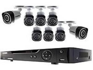 Lorex LHD818 8 Channel HD DVR Security System With 8 Cameras - 720p - 1 TB Hard Drive - Black
