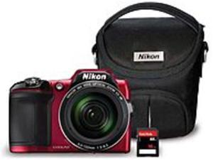 Nikon Coolpix L840 018208134779 16.0 Megapixels Digital Camera Bundle - 38x Optical Zoom - 3-inch LCD Display - 4.0 - 152 mm - Wi-Fi - Red