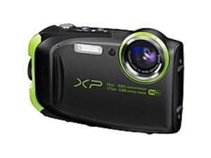 "Fujifilm FinePix XP80 16.4 Megapixel Compact Camera - Graphite Black - 2.7"" LCD - 16:9 - 5x Optical Zoom - 2x - Optical (IS) - TTL - 4608 x 3456 Image - 1920 x 1080 Video - HDMI - PictBridge - HD ..."