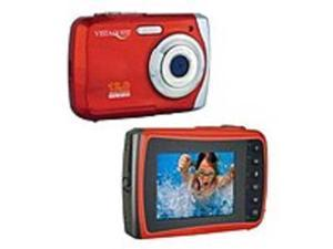 VistaQuest VQ9100R VQ-9100 Digital Camcorder - 2.4-inch TFT LCD - Red - 8x Digital Zoom - Water-Proof - SD - Memory Card