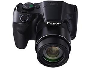 "Canon PowerShot SX520 HS 16 Megapixel Compact Camera - Black - 3"" LCD - 16:9 - 42x Optical Zoom - 4x - Optical (IS) - 4608 x 3456 Image - 1920 x 1080 Video - HDMI - PictBridge - HD Movie Mode"