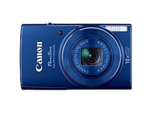 "Canon PowerShot 150 IS 20 Megapixel Compact Camera - Blue - 2.7"" LCD - 16:9 - 10x Optical Zoom - 4x - Optical (IS) - 5152 x 3864 Image - 1280 x 720 Video - PictBridge - HD Movie Mode"