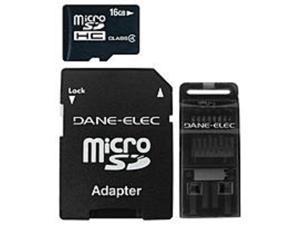 Dane-Elec MJ-3IN116G-C Mobile Junkie 16 GB MicroSD 3-in-1 Mobile Kit