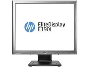 "HP Elite E190i 18.9"" LED LCD Monitor - 5:4 - 8 ms - Adjustable Monitor Angle - 1280 x 1024 - 250 Nit - 3,000,000:1 - SXGA - DVI - VGA - MonitorPort - USB - 28 W - Black - ENERGY STAR, EPEAT Gold"