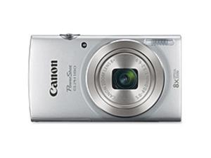 "Canon PowerShot 180 20 Megapixel Compact Camera - Silver - 2.7"" LCD - 16:9 - 8x Optical Zoom - 4x - Optical (IS) - TTL - 5152 x 3864 Image - 1280 x 720 Video - PictBridge - HD Movie Mode - ..."