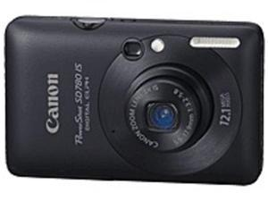 Canon PowerShot 3590B001 SD780 IS 12 Megapixels Digital Camera - 4x Digital/3x Optical Zoom - 2.5-inch LCD Display - Black