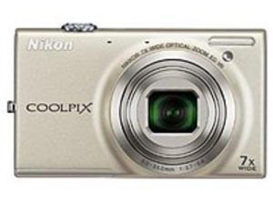 Nikon Coolpix 26269 S6100 16.0 Megapixels Digital Camera - 7x Optical Zoom/4x Digital Zoom - 3.0-inch LCD Display - Silver