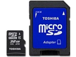 Toshiba PFM032U-1DAK 32 GB microSD High Capacity (microSDHC) with Adapter - Class 4 - 1 Card/1 Pack