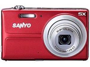 Sanyo VPC-T1496R 14.0 Megapixels Digital Camera - 5x Optical Zoom - 3.0-inch LCD Display - Red