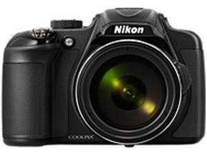 Nikon 13458 P600 16.1 Megapixels Coolpix Digital Camera - 60x Optical/Up to 4x Digital Zoom - 3-inch LCD Display - 4.3-258 mm Lens Focal Length - Black