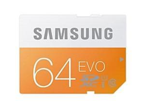 Samsung EVO MB-SP64D 64 GB SDXC - 50 MB/s Read - 25 MB/s Write1 Pack