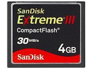 SanDisk Extreme III SDCFX3-004G-A31 4 GB CompactFlash Card