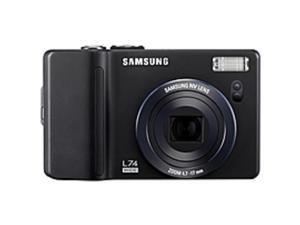 "Samsung L74WB 7 Megapixel Compact Camera - Black - 3"" LCD - 4x Optical Zoom - 5x - PictBridge"