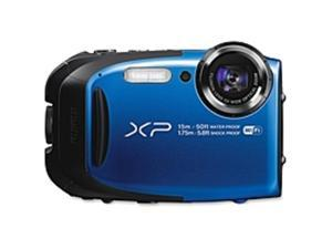 "Fujifilm FinePix XP80 16.4 Megapixel Compact Camera - Blue - 2.7"" LCD - 16:9 - 5x Optical Zoom - 2x - Optical (IS) - TTL - 4608 x 3456 Image - 1920 x 1080 Video - HDMI - PictBridge - HD Movie Mode ..."
