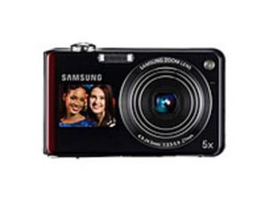 Samsung DualView EC-TL210ZBPRUS TL210 12.2 Megapixels Digital Camera - 5x Digital Zoom - 5x Optical Zoom - 3-inch LCD Display - Black/Red