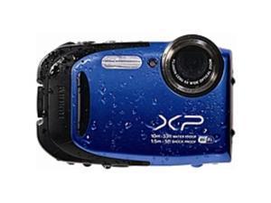 "Fujifilm FinePix XP70 16.4 Megapixel Compact Camera - Blue - 2.7"" LCD - 16:9 - 5x Optical Zoom - 2x - Optical (IS) - 4608 x 3456 Image - 1920 x 1080 Video - HDMI - PictBridge - HD Movie Mode - ..."