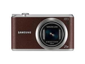 "Samsung WB350F 16.3 Megapixel Compact Camera - Brown - 3"" Touchscreen LCD - 16:9 - 21x Optical Zoom - 9.4x - Optical (IS) - 4608 x 3456 Image - 1920 x 1080 Video - HD Movie Mode - Wireless LAN"