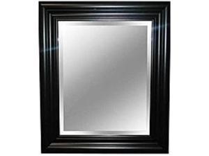 MCS 044021739044 Beveled Wall Mirror - 23 x 27-inch - Black