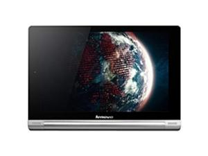 """Lenovo IdeaTab Yoga 10 16 GB Tablet - 10.1"""" - In-plane Switching (IPS) Technology - Wireless LAN - MediaTek Cortex A7 MT8389 1.20 GHz - Silver Gray - 1 GB RAM - Android 4.2 Jelly Bean - Slate - ..."""