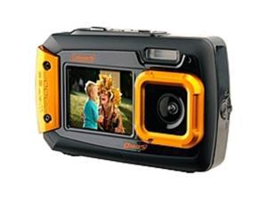 "Coleman Duo2 2V9WP 20 Megapixel Compact Camera - Orange - 2.7"" LCD - 4x - 640 x 480 Video"