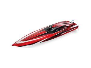 Traxxas 57076-4:RED Red Spartan 36 Inch Race Boat with TQi Link and Tsm