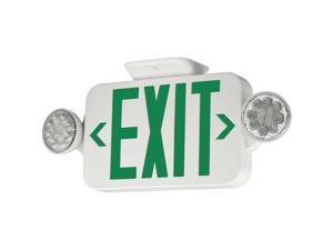 Progress Lighting PE011-30 LED Exit Sign with Green Letters, White