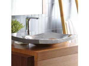"""Native Trails CPS557 Kohani 20"""" 16-Gauge Copper Vessel Bathroom Sink, Brushed Nickel"""