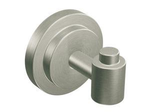 Moen CSIDN0703BN Robe Hook from the Iso Collection, Brushed Nickel