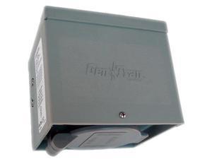 Generac 6340 30 Amp 4 Prong Non-Metallic Power Inlet Box with Flip Lid, Power Inlet Box