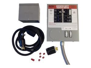 6408 30 Amp 6 Circuit Indoor Manual Transfer Switch Kit with Metal PIB and Conduit