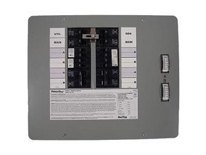 6380 50 Amp 12 Circuit 125/250V Indoor Manual Transfer Switch for Generators up to 12.5 kW