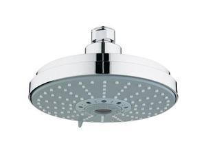 Grohe 27135000 Rainshower 2.5 GPM Multi-Function Shower Head with SpeedClean Technology, Starlight Chrome