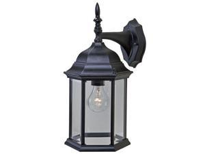 Acclaim Lighting 5181BK Craftsman 1 Light Outdoor Wall Sconce, Matte Black / Clear Beveled Glass