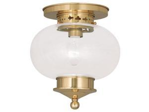 Livex Lighting Harbor Ceiling Mount in Polished Brass - 5032-02