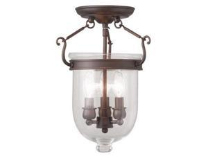 Livex Lighting Jefferson Ceiling Mount in Imperial Bronze - 5061-58