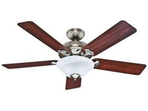 53109 Brookline 52 in. Traditional Brushed Nickel Cherry Maple Indoor Ceiling Fan with 2 Lights