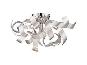 """Quoizel RBN1616 Ribbons 4 Light 17"""" Wide Xenon Flush Mount Ceiling Fixture"""