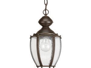 Progress Ashmore 3-Light Hanging Lantern Water Glass Antique Bronze - P5550-20