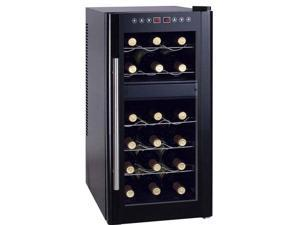 Sunpentown WC-1857DH Thermo-Electric Wine Cooler with Heating and Quiet Operatio, Black