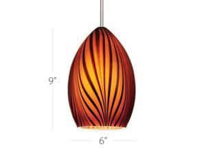WAC Lighting Glass Only - Amber Shade - Tigra - G918-AM