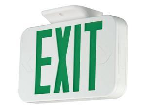 Progress Lighting PE009 LED Exit Sign with Green Letters, White