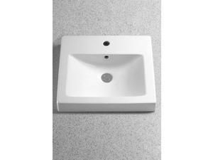 """Toto LT155.8 Vernica 20"""" Fireclay Drop In Bathroom Sink with 3 Faucet Holes Dril"""